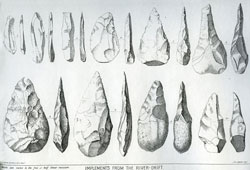 Plate I from Ancient Stone Implements